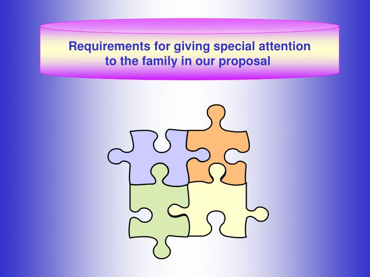 Requirements for giving special attention
