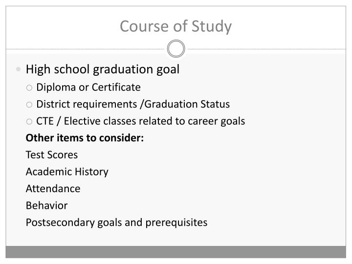 Course of Study