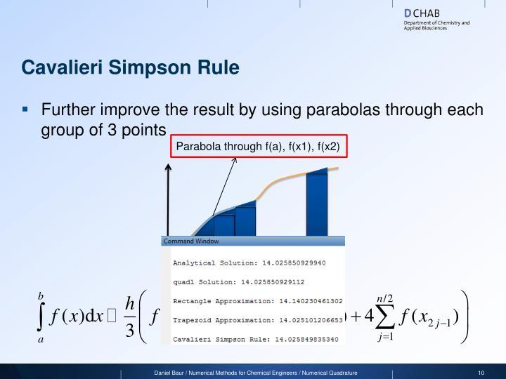 Cavalieri Simpson Rule