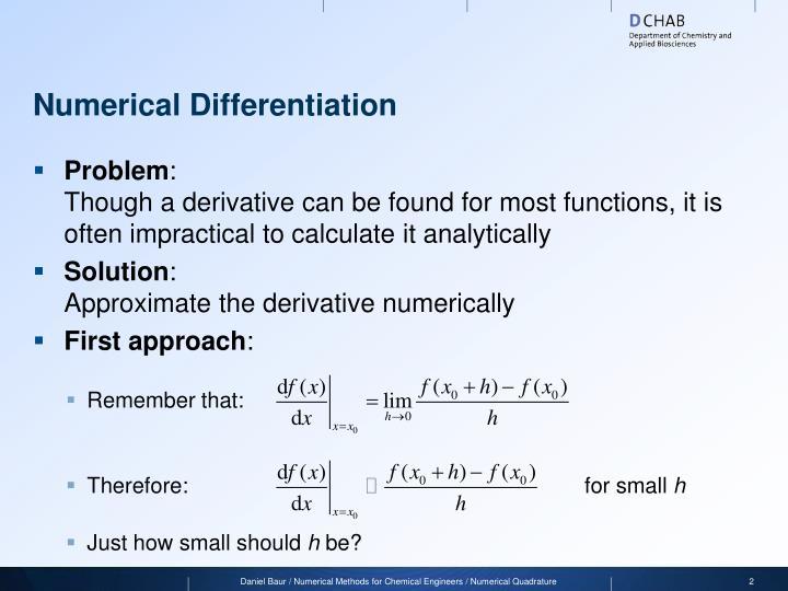 Numerical differentiation