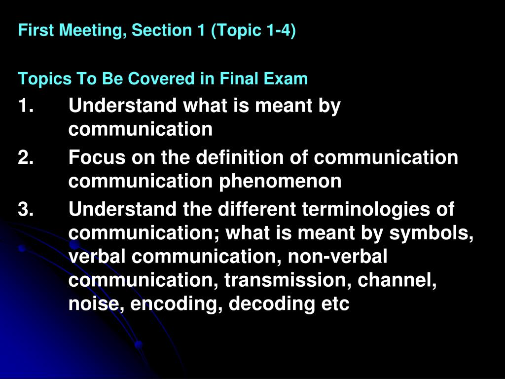 PPT - KOM5111 COMMUNICATION THEORY FIRST MEETING LECTURE First