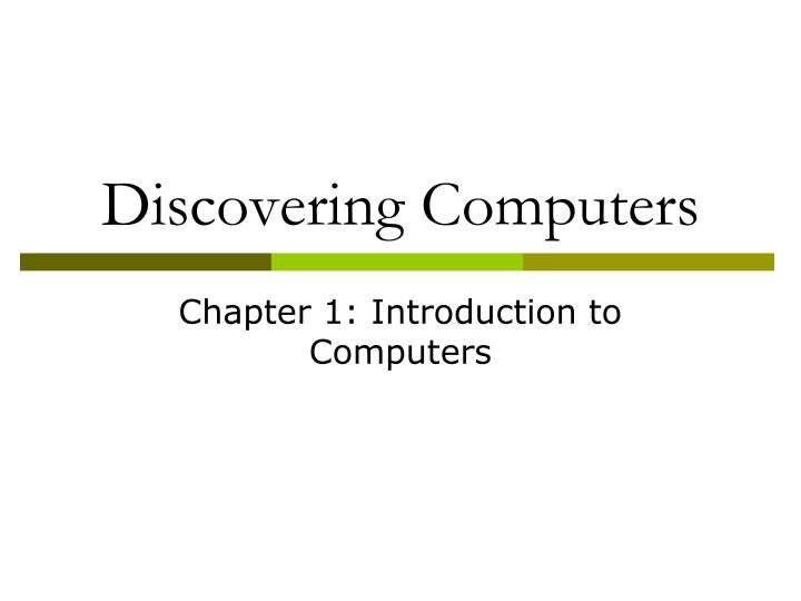 discovering computers n.