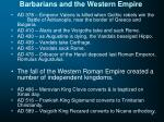 barbarians and the western empire1