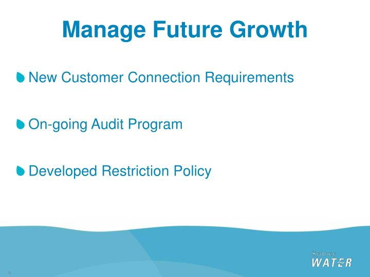 Manage Future Growth