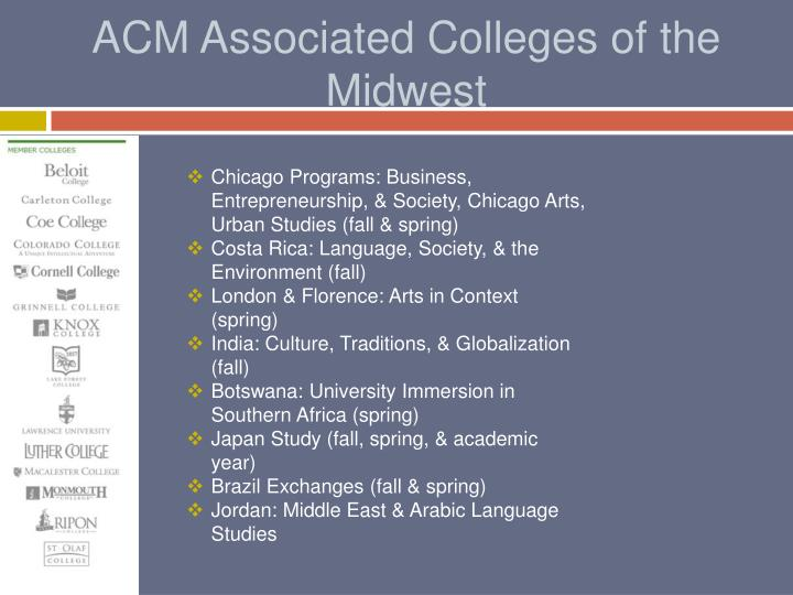 ACM Associated Colleges of the Midwest