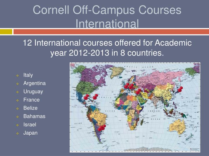 Cornell Off-Campus Courses International