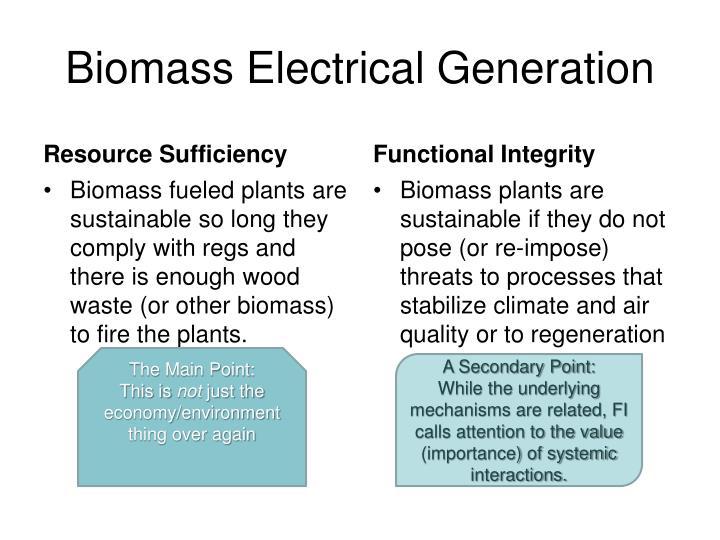 Biomass Electrical Generation