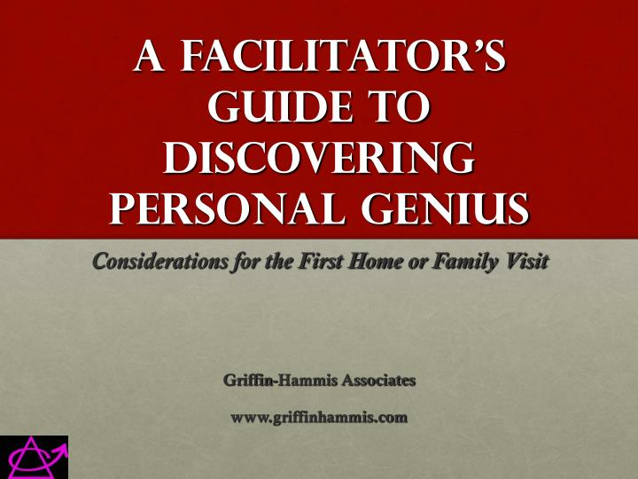 a facilitator s guide to discovering personal genius n.
