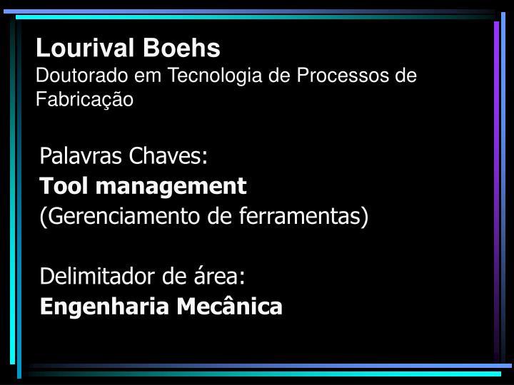 Lourival boehs doutorado em tecnologia de processos de fabrica o