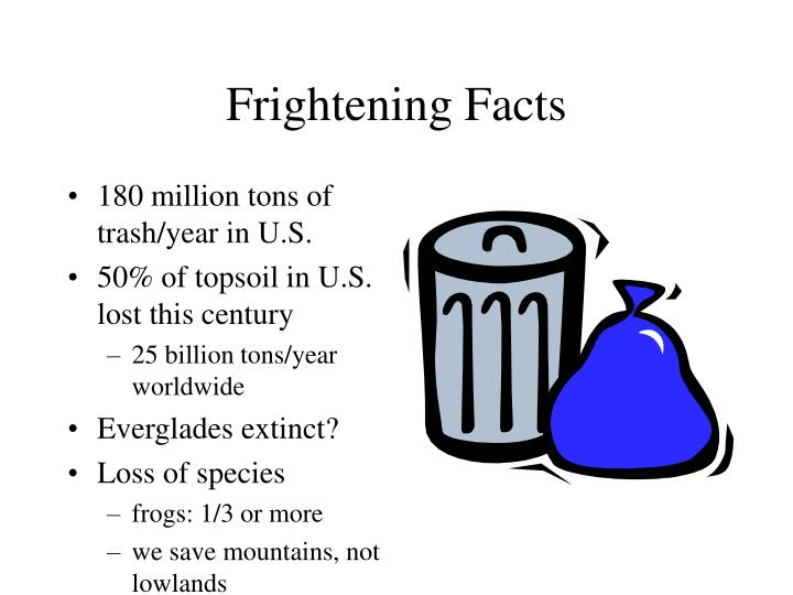 Frightening facts