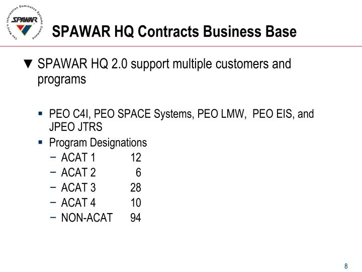 SPAWAR HQ Contracts Business Base