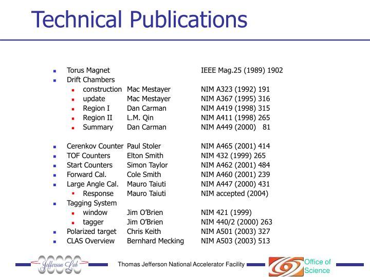 Technical Publications