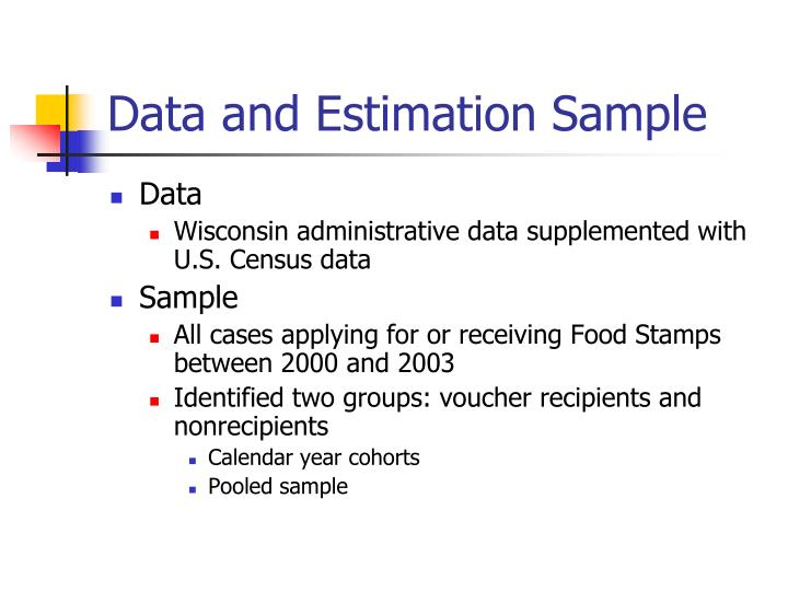 Data and Estimation Sample