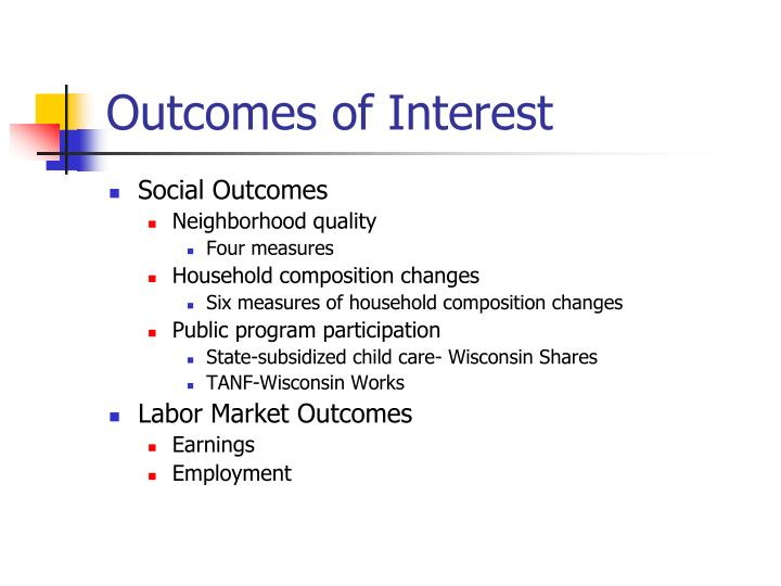 Outcomes of Interest