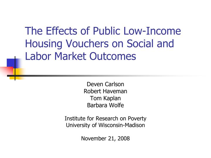 The effects of public low income housing vouchers on social and labor market outcomes