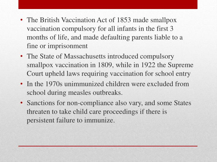 a utilitarians point of view on compulsory vaccination The british raj extended  in the 1860s–1880s the raj set up compulsory  the british contributed to public health by introducing smallpox vaccination,.