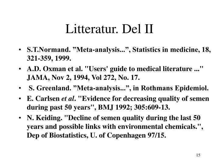 Litteratur. Del II