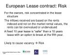 european lease contract risk1