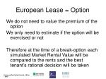 european lease option