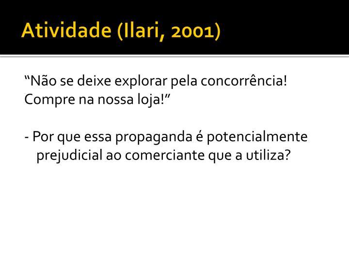 Atividade (Ilari, 2001)