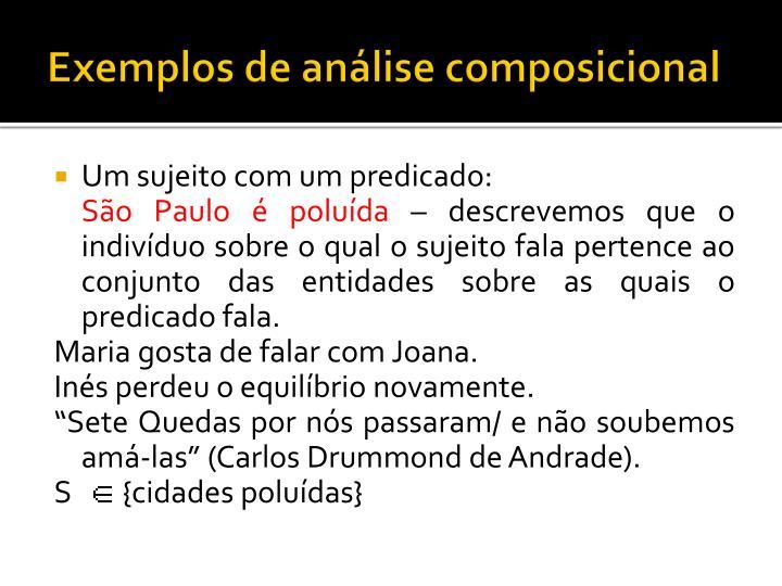 Exemplos de análise composicional