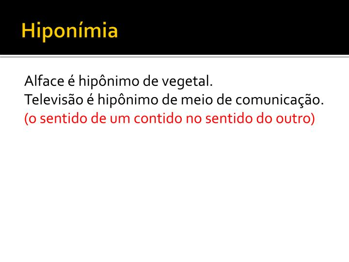 Hiponímia