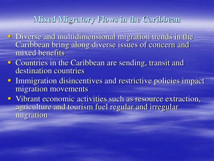 Mixed Migratory Flows in the Caribbean