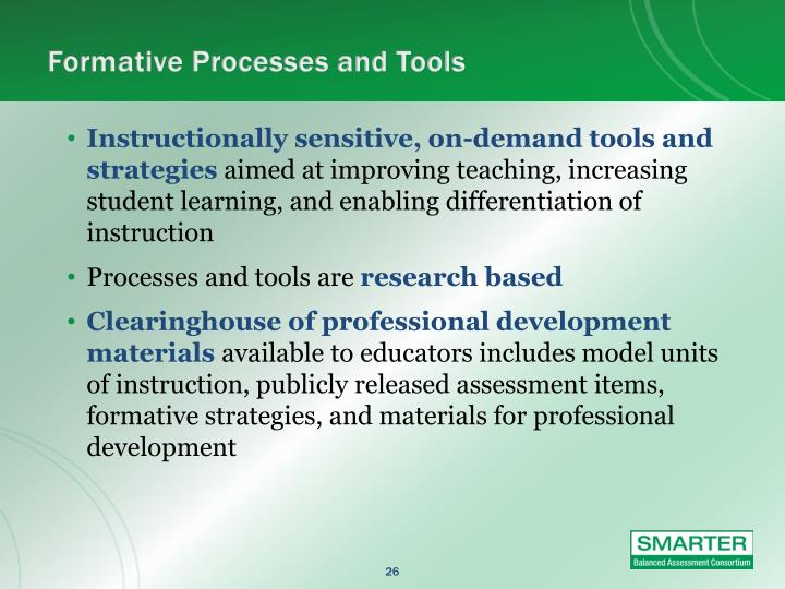 Formative Processes and Tools