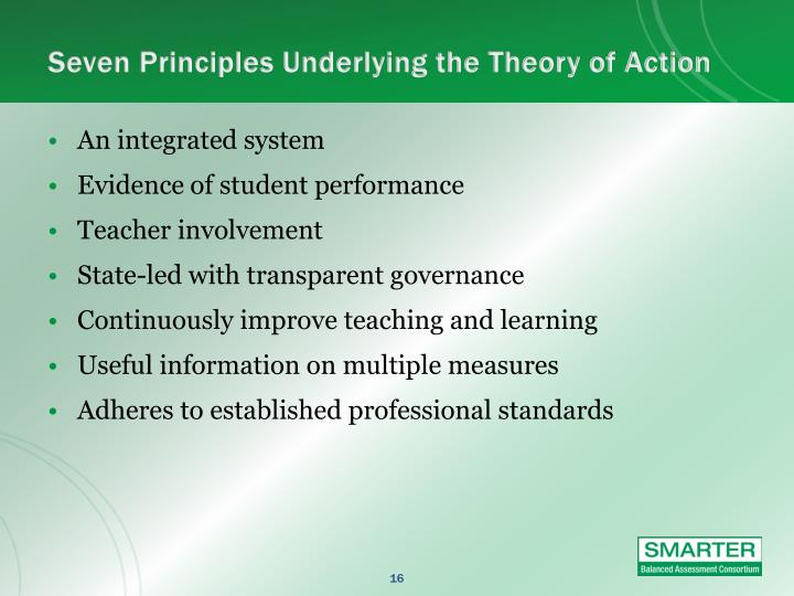 Seven Principles Underlying the Theory of Action