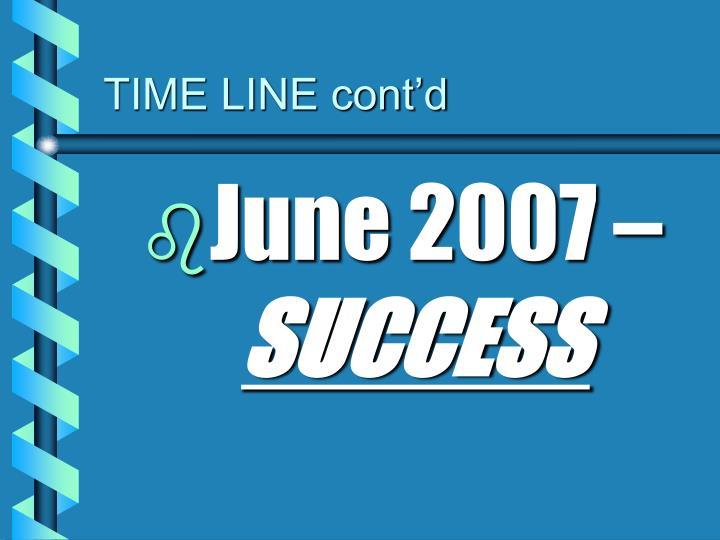TIME LINE cont'd
