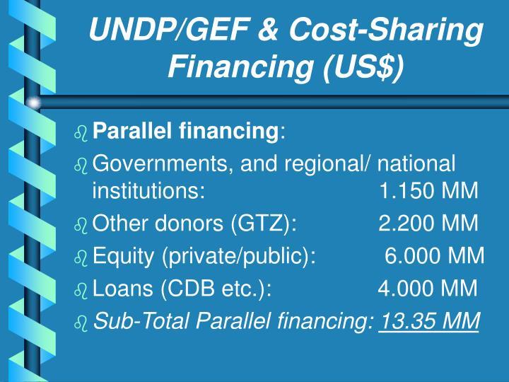 UNDP/GEF & Cost-Sharing Financing (US$)