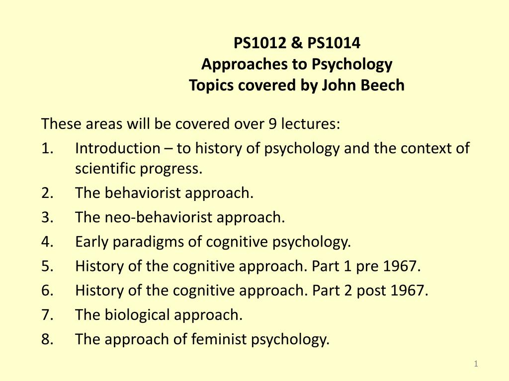 psychology topics for presentation