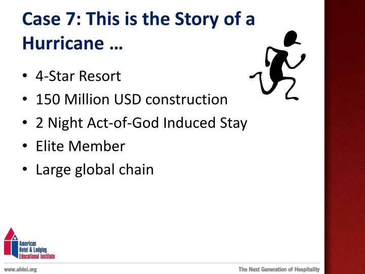Case 7: This is the Story of a Hurricane …