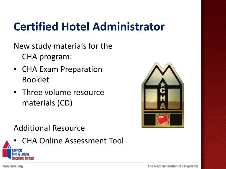 Certified Hotel Administrator