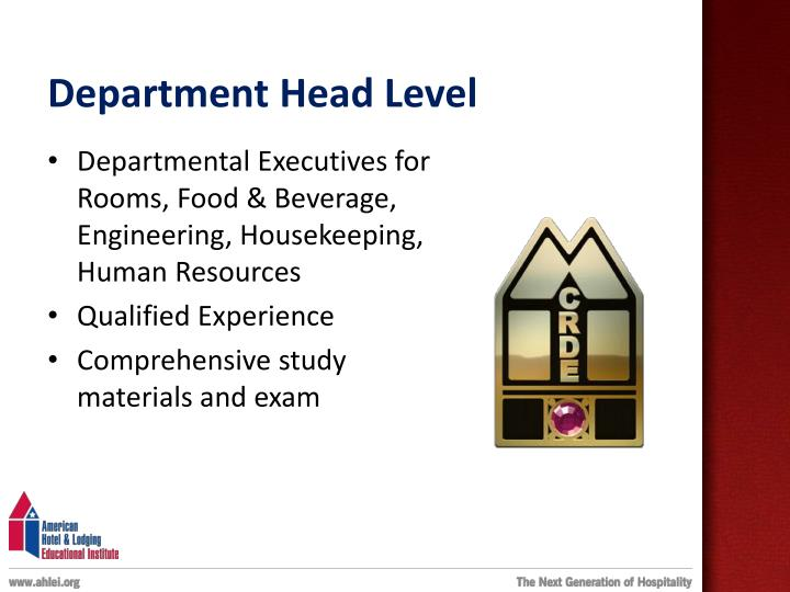 Department Head Level