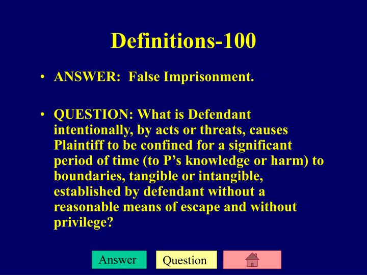 Definitions 100