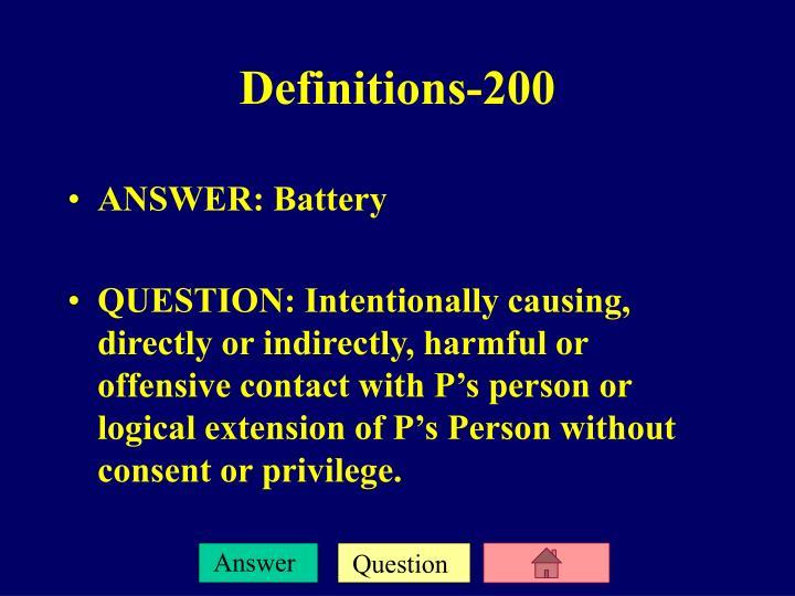 ANSWER: Battery
