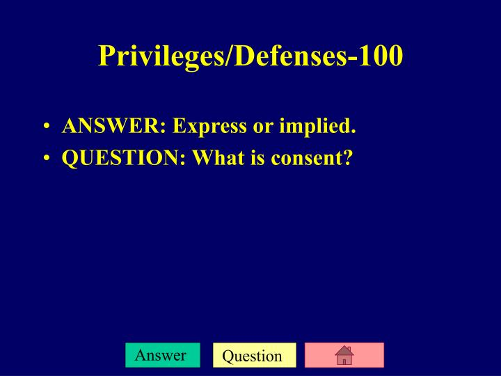 ANSWER: Express or implied.