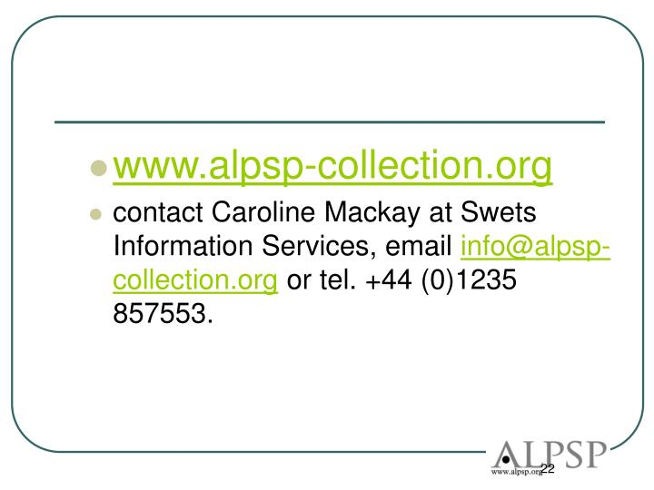 www.alpsp-collection.org