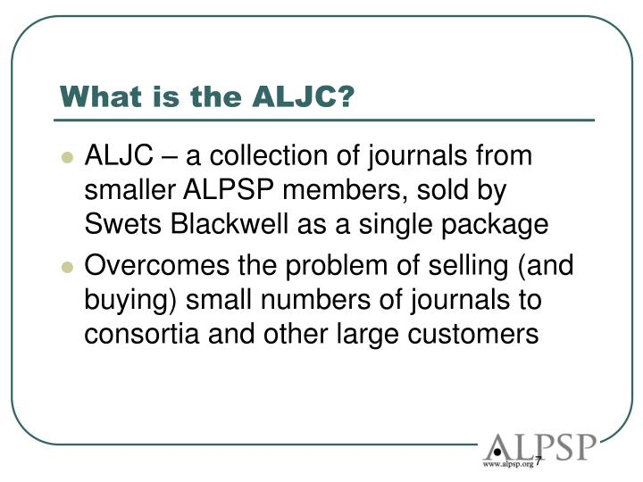 What is the ALJC?