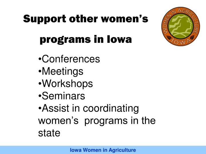 Support other women's