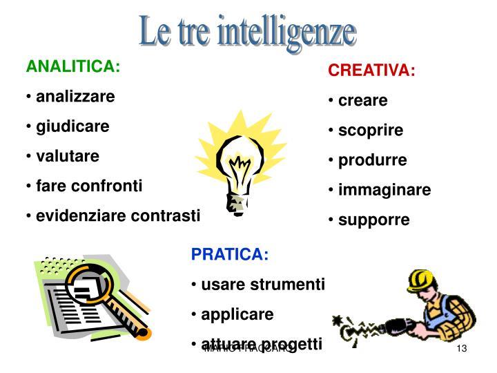 Le tre intelligenze