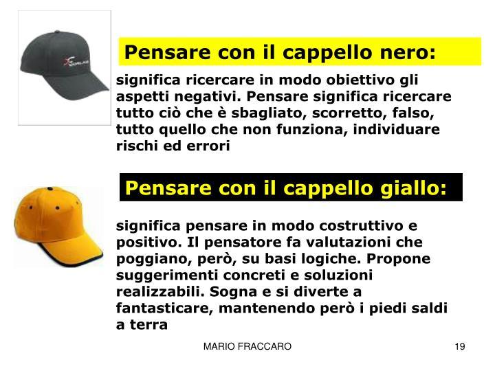 Pensare con il cappello nero: