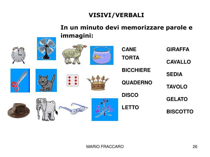 VISIVI/VERBALI