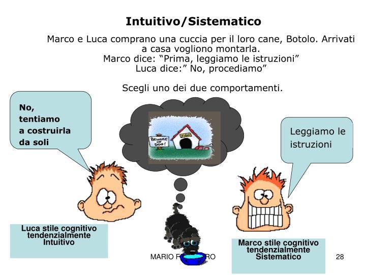Intuitivo/Sistematico