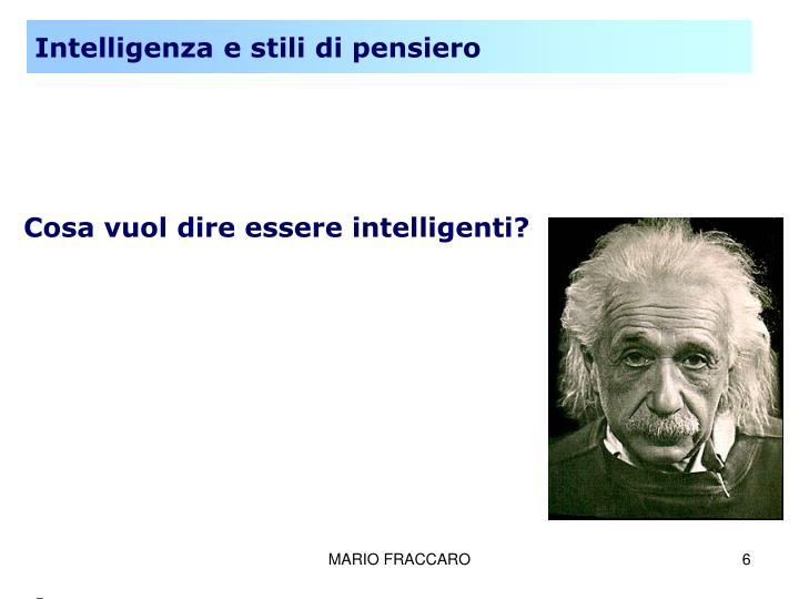 Intelligenza e stili di pensiero