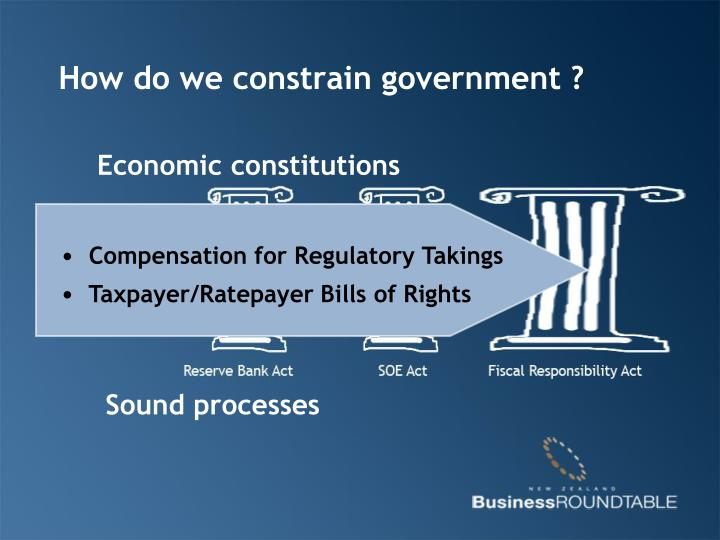 How do we constrain government ?
