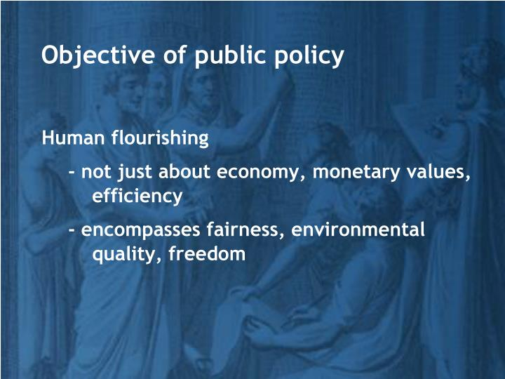 Objective of public policy