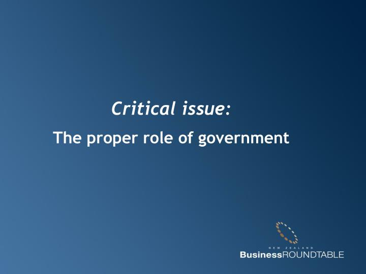 Critical issue:
