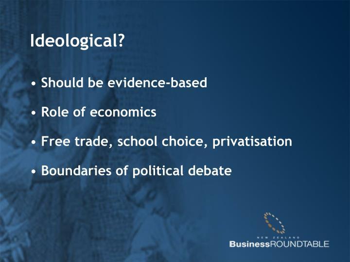 Ideological?